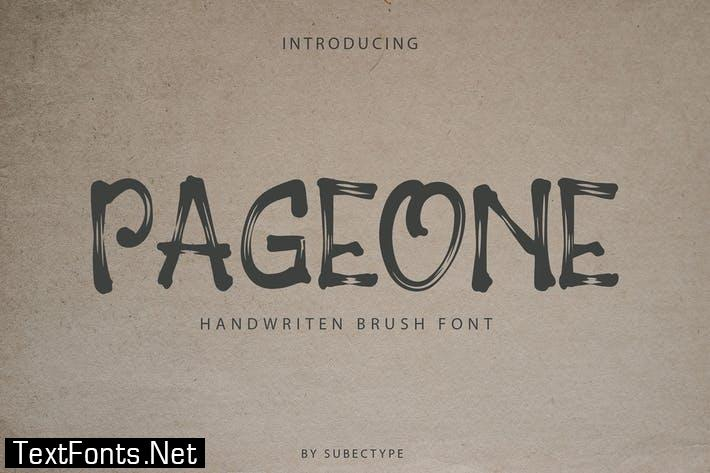 Pageone Font