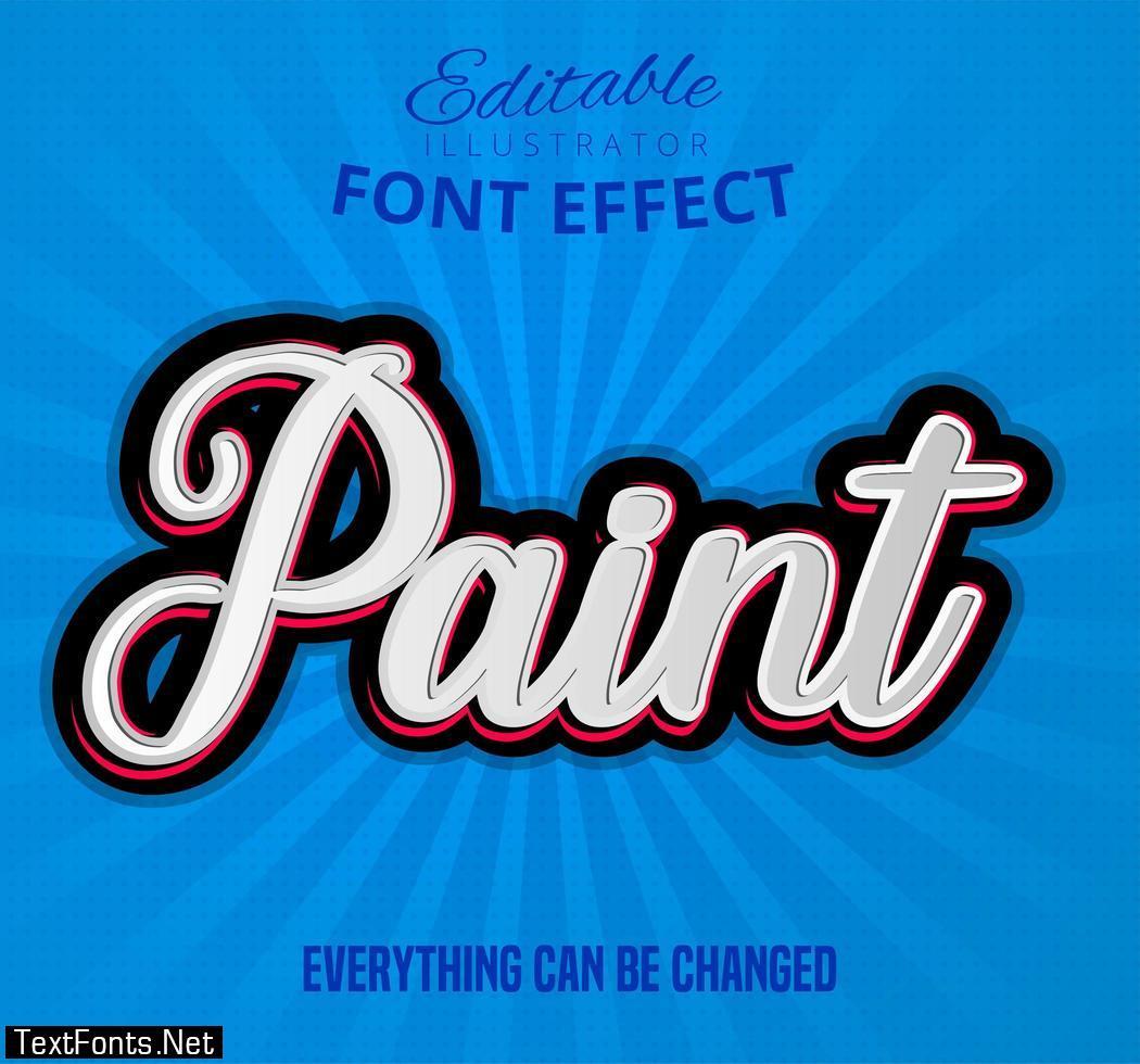 Paint font effect text 692489