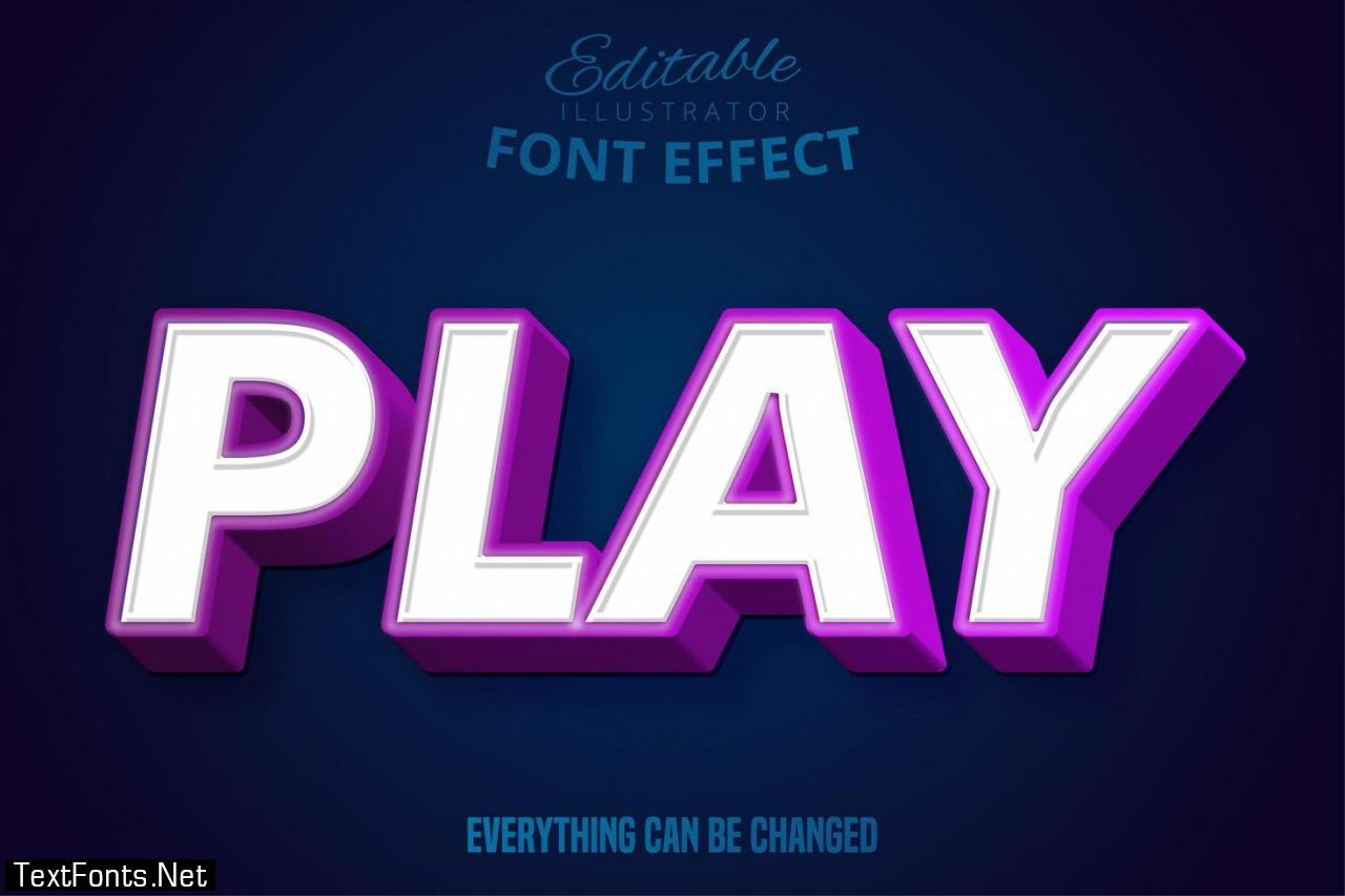 Play Text Editable Font