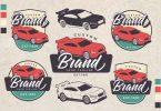 Racing Car Theme Vintage Logo