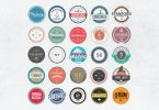 Retro Colorful Badges and Logos