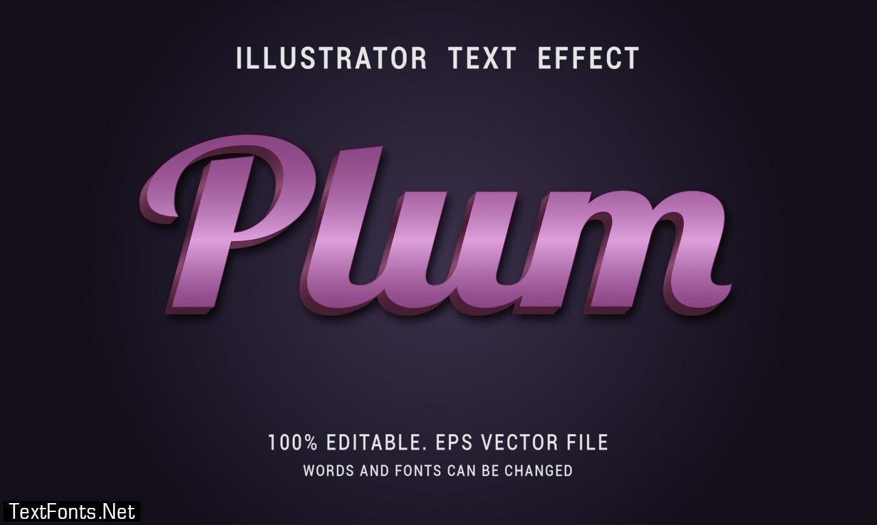 Shiny Purple Bold Text Effect