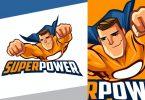 Smirking Superhero Mascot Logo