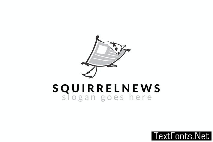 Squirrel News Logo Template 9FLSUB4