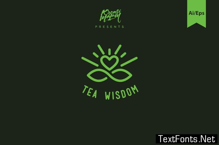 Tea Wisdom Logo Template