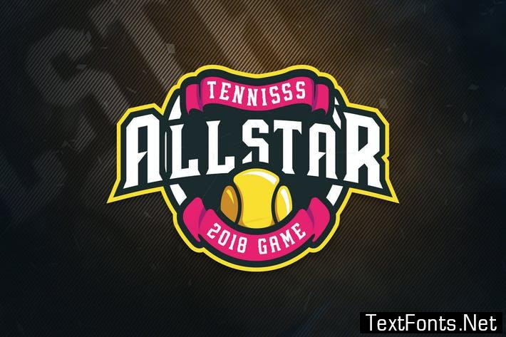 Tennis All Stars Sports Logo