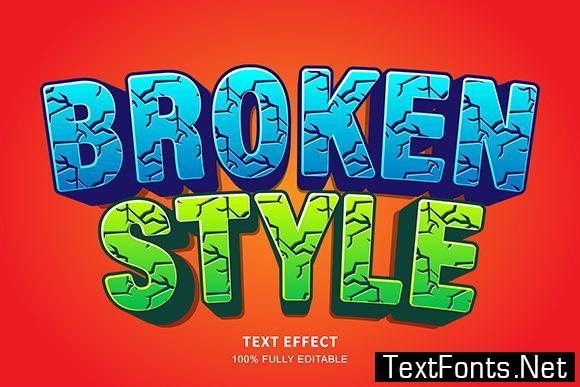 Text Effect - Broken Text Cartoon Style
