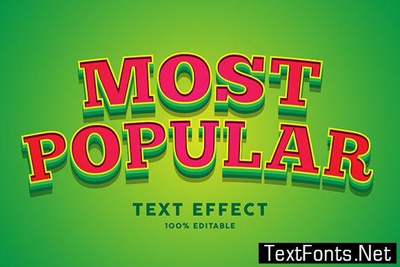Text Effect - Green Red Cartoon Style
