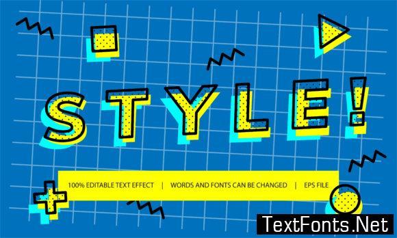 Text Effect - Memphis Style