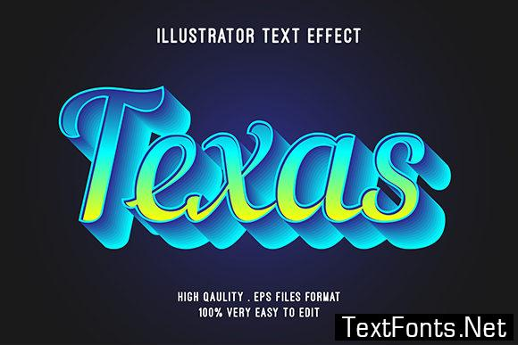 Text Effect - Texas Text Style Effect