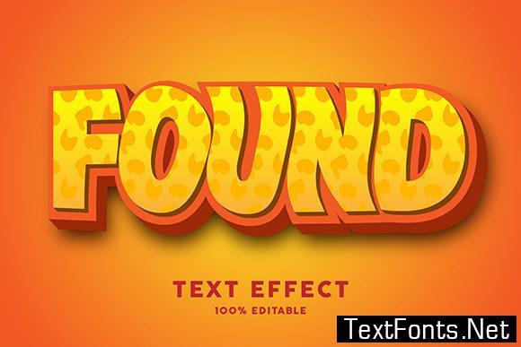 Text Effect - Yellow Cartoon Bold Font