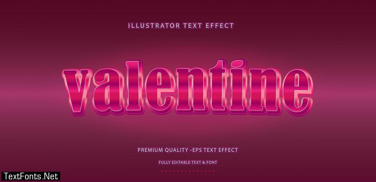 Valentine Text Effect Style