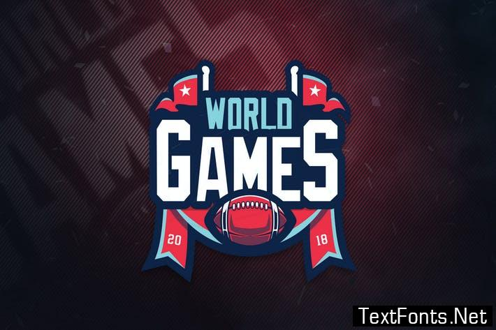 Worlds Games Sports Logo PSRBGV