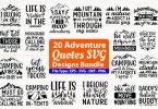 Adventure Quotes Design Bundle