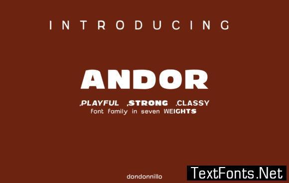 Andor Family Font