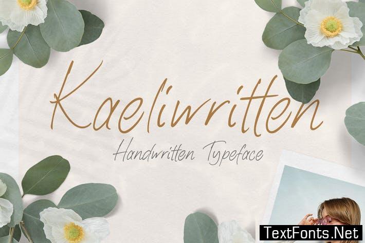 Kaeliwritten - Handwritten Typeface
