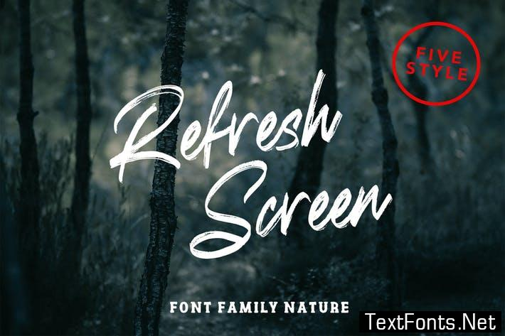 Refresh Screen Nature Family Font