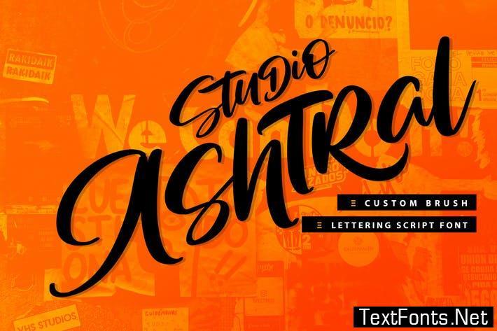 Studio Ashtral   Brush Lettering Script Font