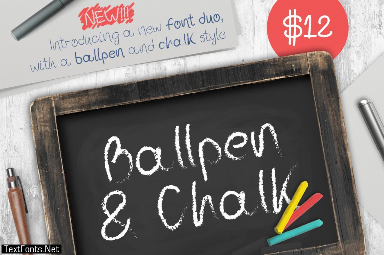 Ballpen and Chalk Font