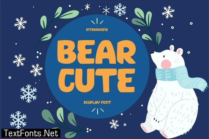 BEAR CUTE Display Font