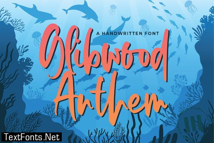 Glibwood Anthem Font