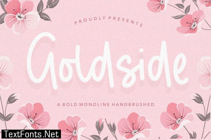 Goldside Brush Font YH