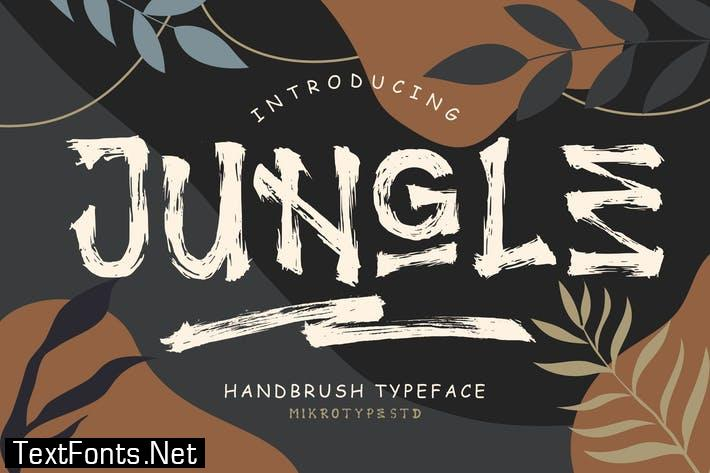 Jungle Handbrush Typeface