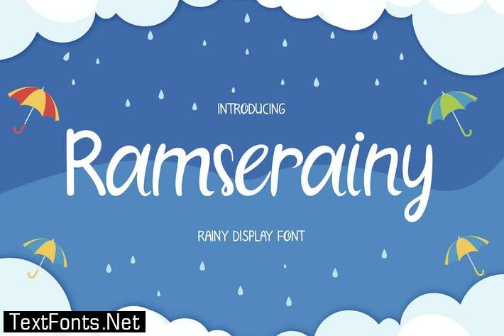 Ramserainy Display Font