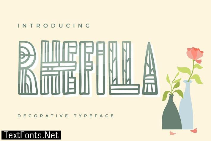 Rhefilla | Decorative Typeface