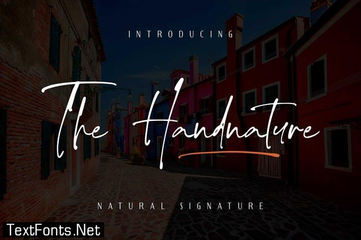 The handnature - Natural Signature Font