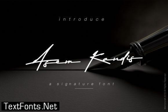 Asem Kandis Font