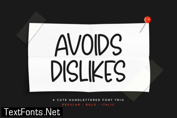 Avoids Dislikes Font