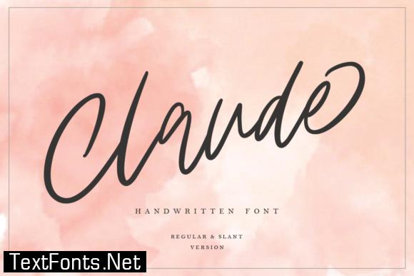 Claude Family Font