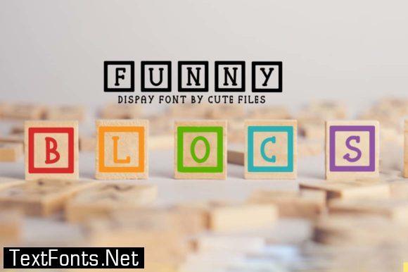 Funny Blocks Font