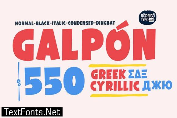 Galpon Family Font