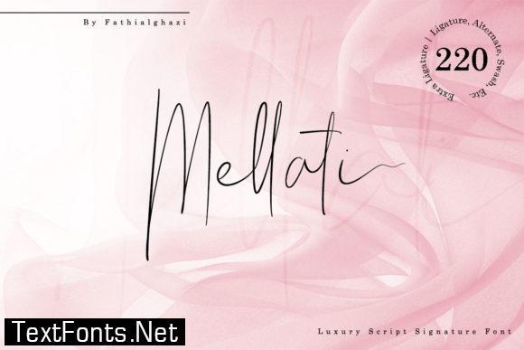 Mellati Script Font