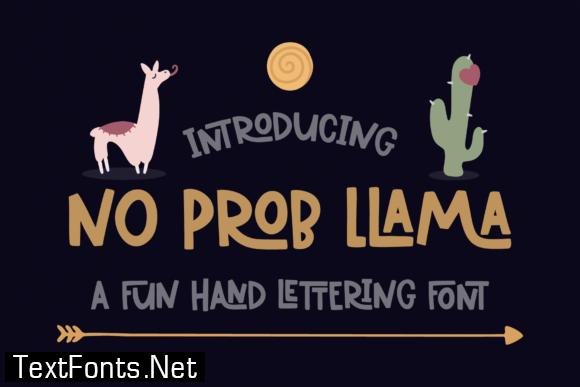 No Prob Llama Font