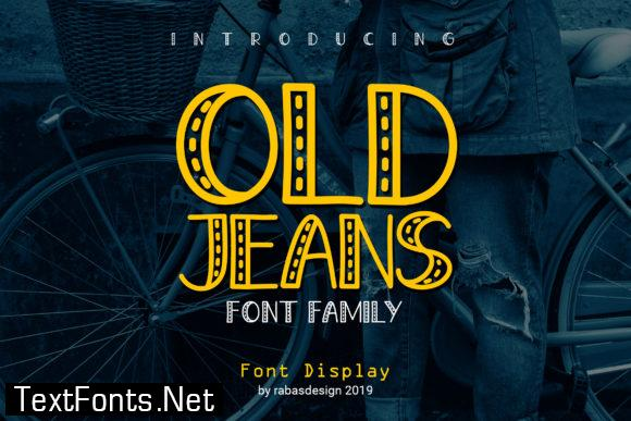 Old Jeans Font