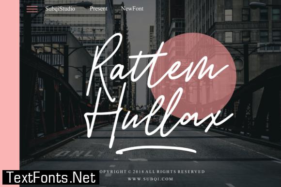 Rattem Hullax Font