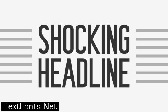 Shocking Headline Font