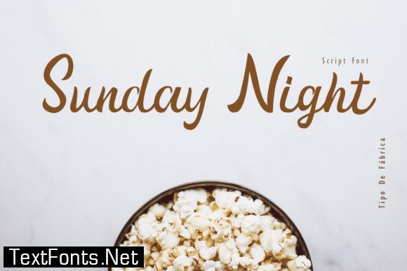 Sunday Night Script Font