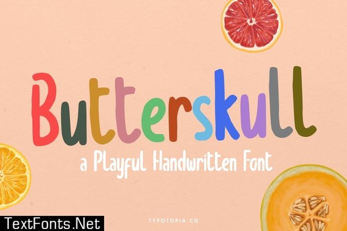 Butterskull a Playful Handwritten Font