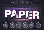 Cut paper - editable text effect, font style