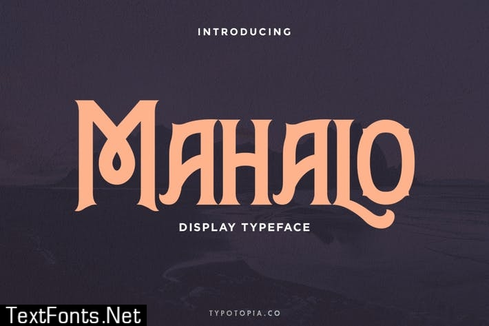 Mahalo Display Typeface