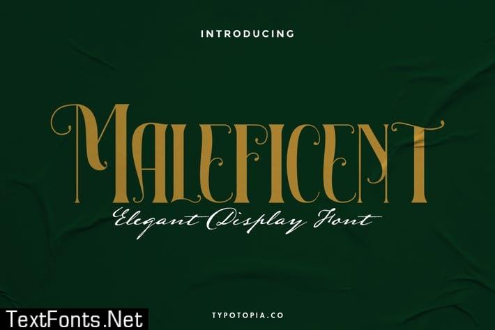 Maleficent The Elegant Display Font