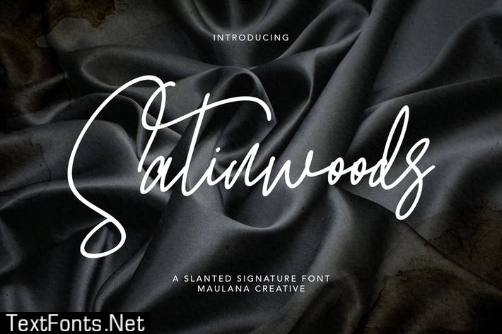 Satinwoods Slanted Signature Font