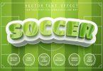 Soccer footbal field - editable text effect SPJFWFV