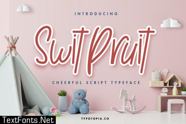 Swit Pruit a Fun Handwritten Font