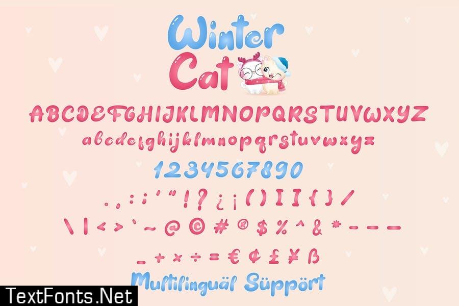 Winter Cat - display font