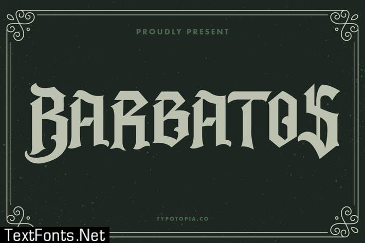Barbatos Modern Blackletter Font
